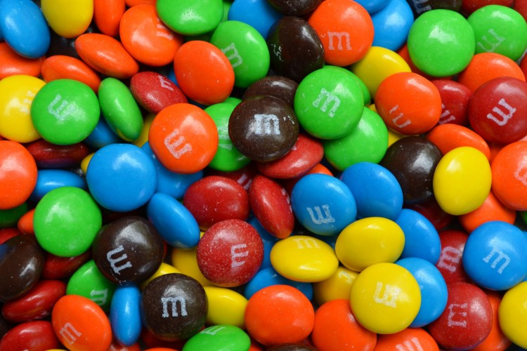 Multicolored M&M's