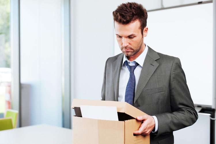 Fired employee leaving office