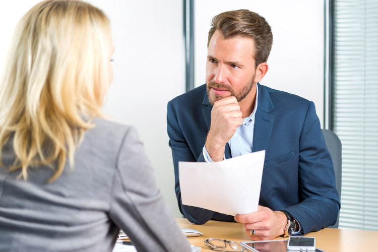 Employer shows interest in candidate's answer
